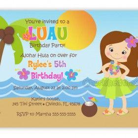 Free Printable Luau Invitations For Kids