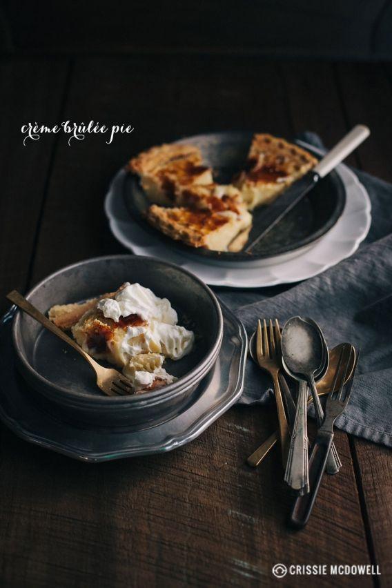 Crème Brûlée Pie » Design Eat Play | cake | Pinterest