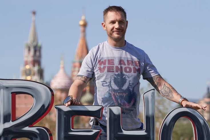 Tom Hardy attends the 'Venom' photocall at Zaryadie park ...
