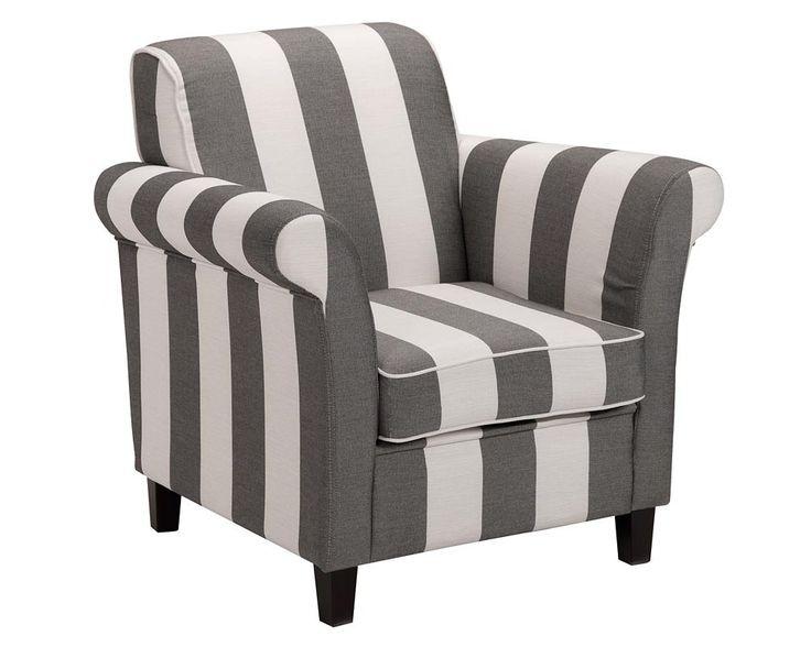 Fauteuil Baltimore: landelijk romantische stoel in antraciet/beige