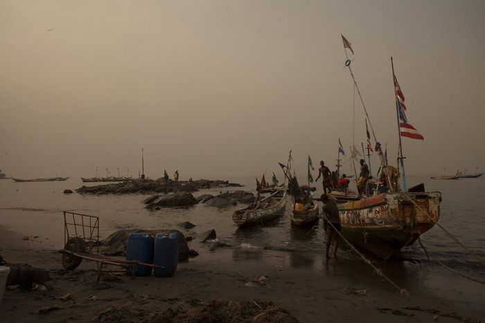 Marcello Bonfanti - Goderich fish market - Sierra Leone - for Vanity Fair