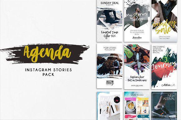 Stories Agenda by EZALOR on @creativemarket