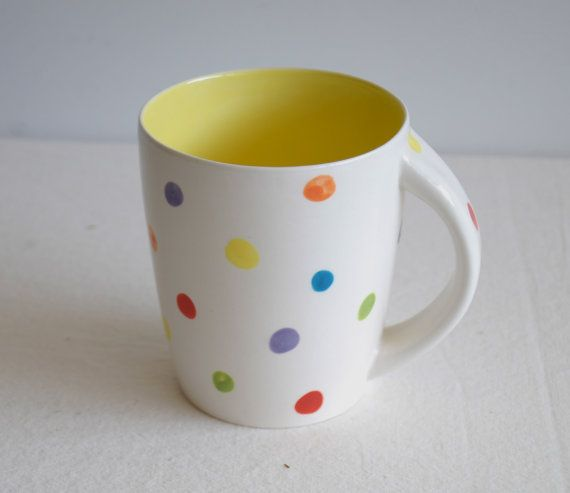 Confetti dots coffee mug by davistudio on Etsy, $28.00