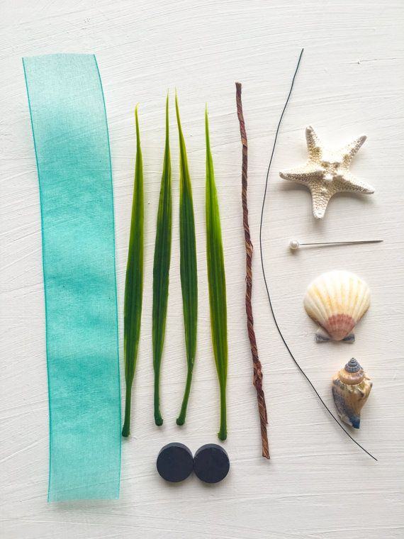 DIY Starfish Boutonniere Kit with Seashells Natural by TizzyBits