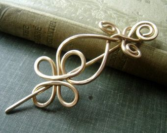 Celtic Loops and Spirals Shawl Pin Scarf Pin by nicholasandfelice