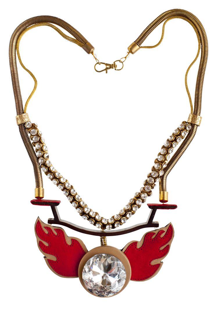 #JOANNEHYNES FLAME AND CRYSTAL NECKPIECE  €320  SHOP:http://www.joannehynes.com/shop/neckpieces/flame-and-crystal-neckpiece-made-to-order/