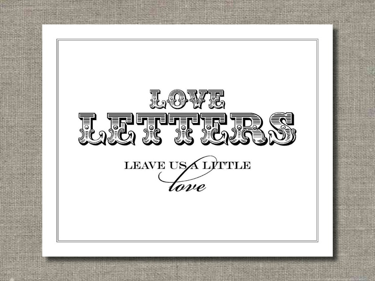Wedding Poster Table Sign Or Guest Book