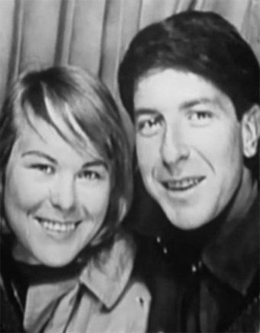 Marianne Ihlen and Leonard Cohen...so long Marianne, like a bird on a wire...