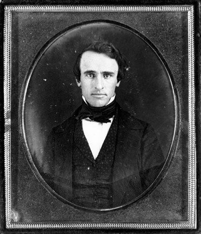 Future president Rutherford B. Hayes in his early twenties, c. 1845. Ever wonder what was under all that beard? Now you know. Take note, Brooklyn.  Submitted by Matthew Levine