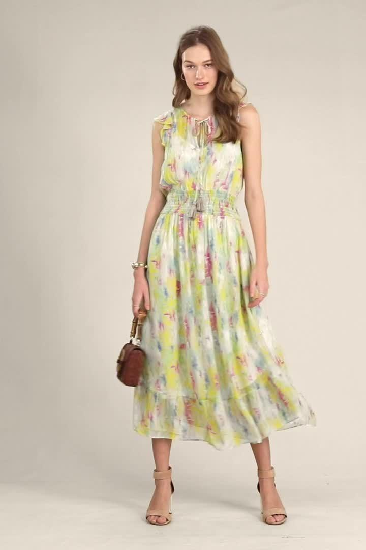 7e270e8cfb72 Watercolor Maxi Dress in 2019   Fashion   Dresses, Summer dresses ...