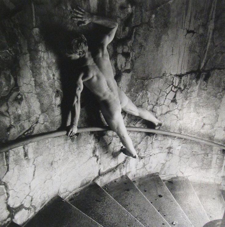 Arthur Tress, Young Man Clinging To Wall, NY, 1980