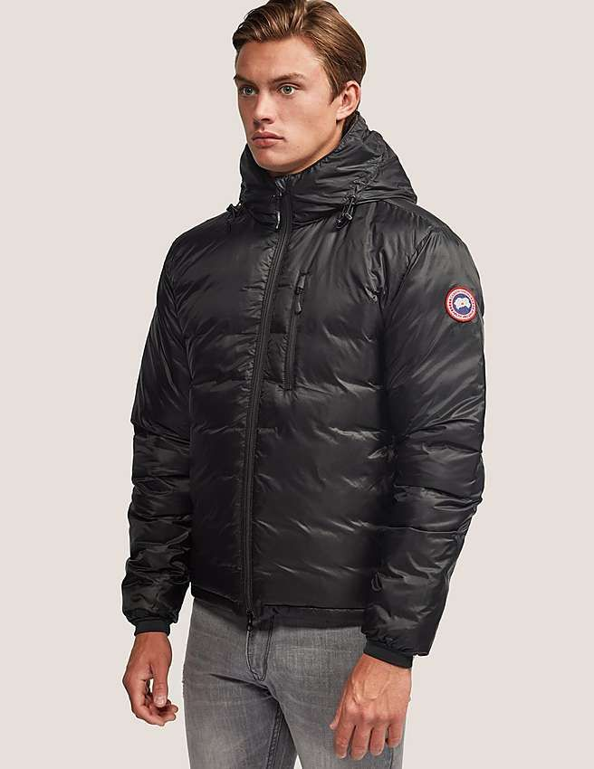 black Canada Goose Lodge Hoody Jacket