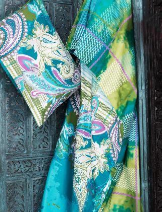 PAISLEY sängkläder turquoise, colours