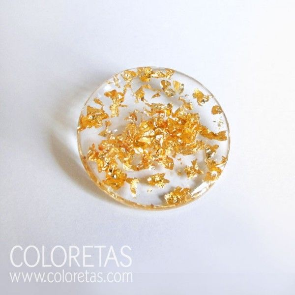 Golden Flakes Brooch - Broche chispas