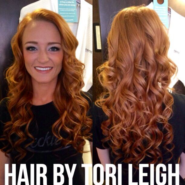 curled Maci from Teen Moms hair