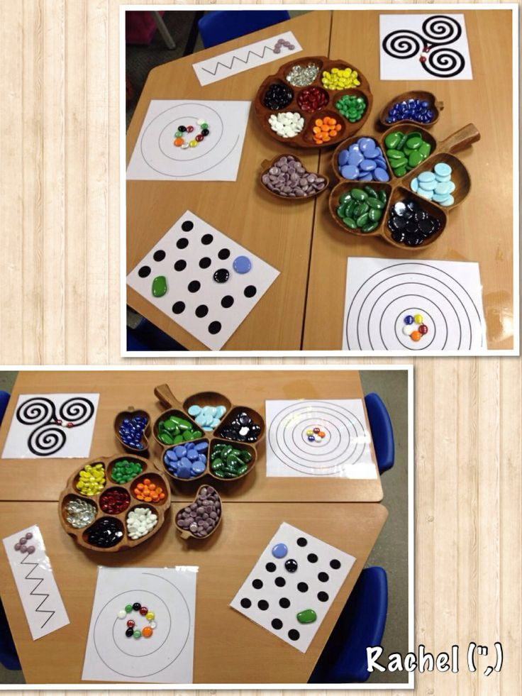 "Fine motor fun with spots, spirals  other patterns - from Rachel ("",)"