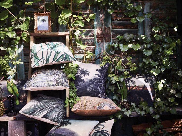 HK Living Sierkussen jungle print - 45xH45 cm - Sweet Living Shop