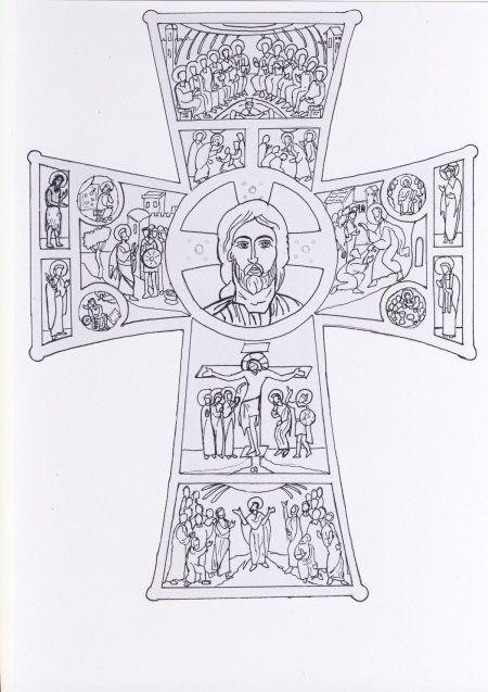 La croix d'Evangélisation à colorier - Catéchèse Belley-Ars