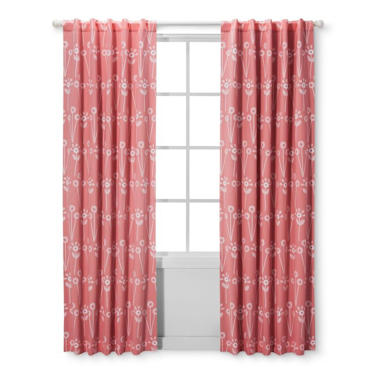 "Light Blocking Curtain Panel Floral (42""x84"") - Cloud Island - Pink"