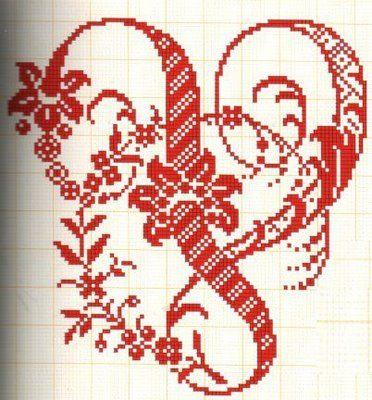 Filomena Crochet e Outros Lavores: - Monogramas e alfabeto V