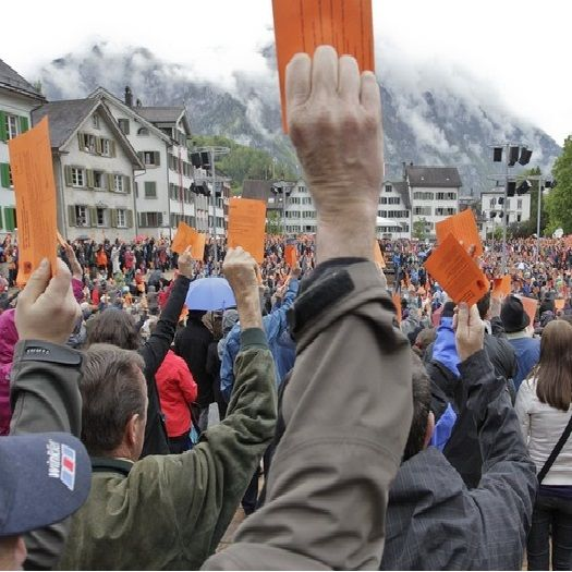Switzerland - the ONLY full direct democracy in the world. http://direct-democracy.geschichte-schweiz.ch/