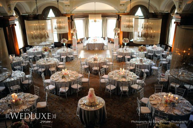 Grand Ballroom, view of where head table will be compared to other round tables