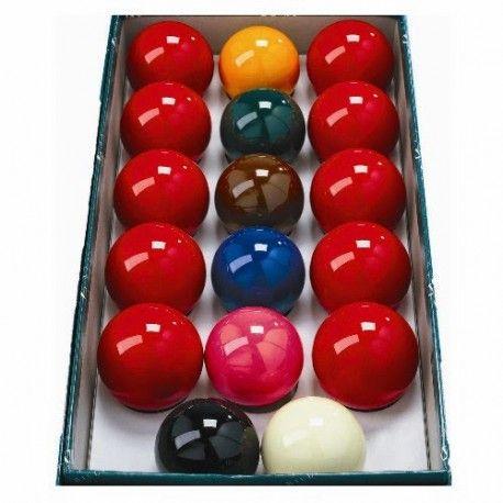 Billes de Billard Jeu Snooker polyester 50.8mm (10 rouges, 7 couleurs) - 31,30 €  #Jeux