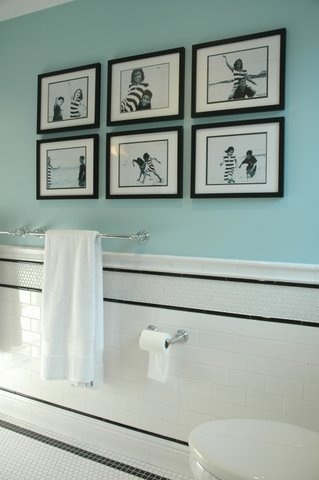 aqua, black and white bathroom#Repin By:Pinterest++ for iPad#