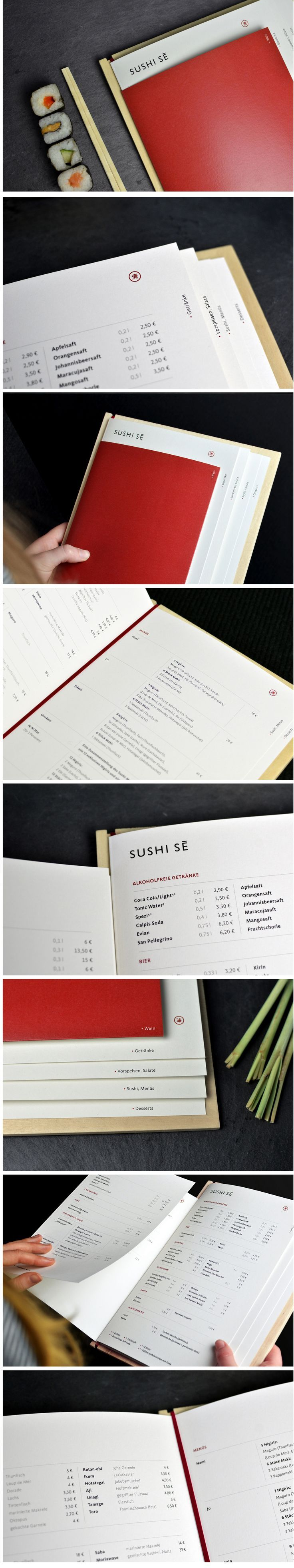 Sushi Sē Speisekarten Mehr / Menu Japanese