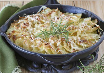 Geitenkaas- en zoete aardappelschotel #Avogelrecepten