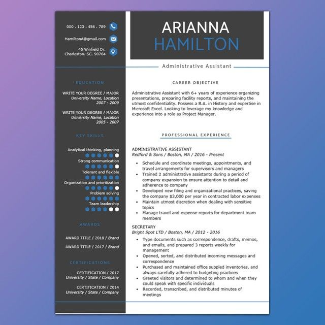 Resume Genius Theresumegenius Instagram Photos And Videos Resume Template Professional Resume Template Free Free Resume Template Download