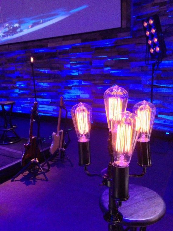 Hanging Light Bulbs Stage