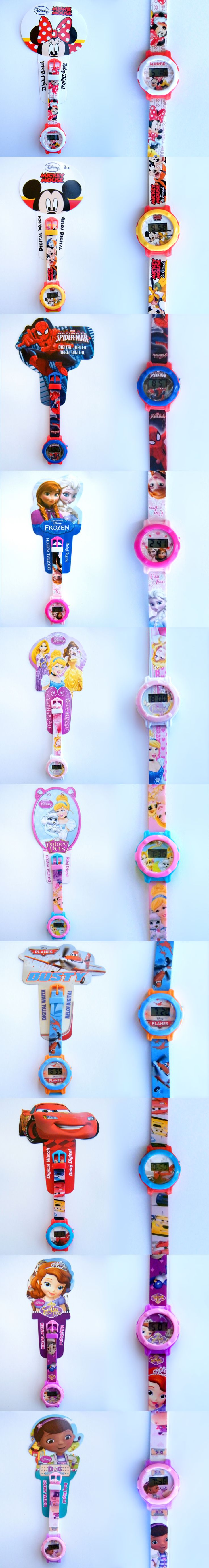 Original DISNEY watches for kids; Mickey, Minnie, Princesses, Cars, Spiderman, Sofia, Frozen - Elsa and Anna, Doc McStuffins; wristwaches; #watch #clock