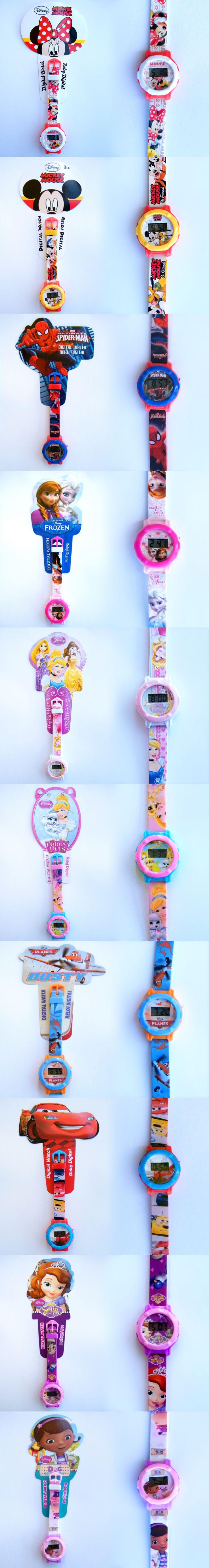 Original DISNEY watches for kids; Mickey, Minnie, Princesses, Cars, Spiderman, Sofia, Frozen, Doc McStuffins