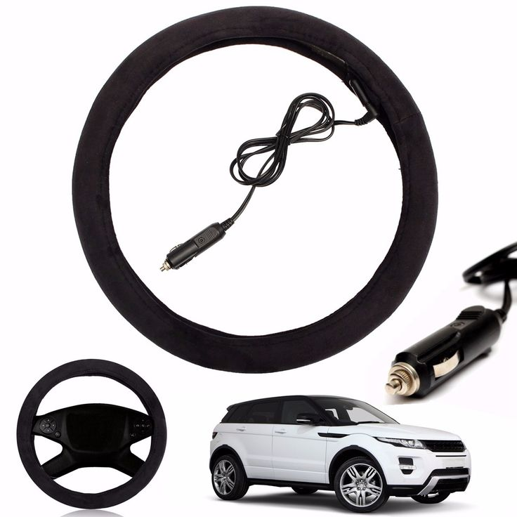 12V Auto Car Lighter Plug Heated Heating Electric Steering Wheel Covers Warmer Winter LW Universal 38cm Steering Covers