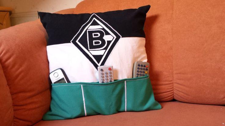 Fernbedienungskissen, Kissenbezug mit Taschen für die Fernbedienung nähen, männerkissen