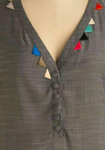 Details for neckline