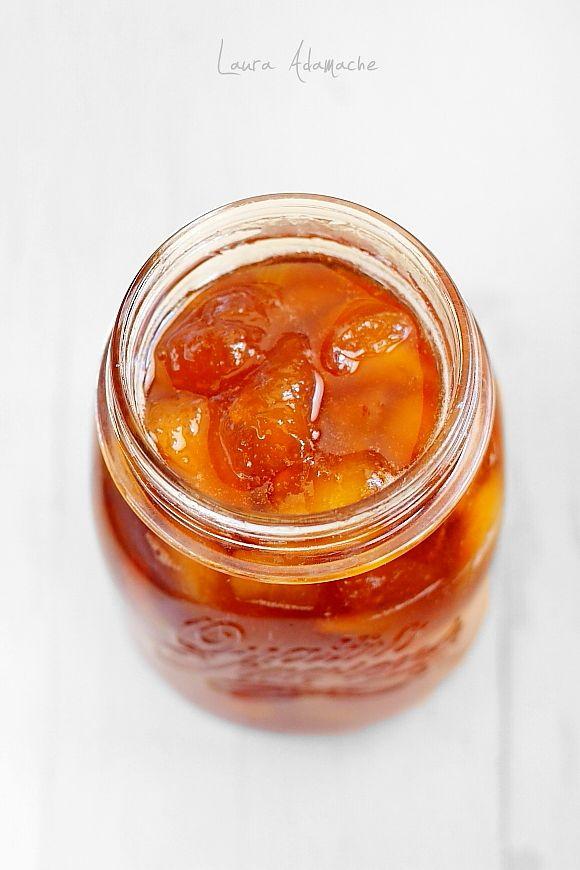 Dulceata de piersici reteta. Dulceata de piersici pentru mic dejun. Mod de preparare si ingrediente dulceata de piersici. Reteta dulceata.