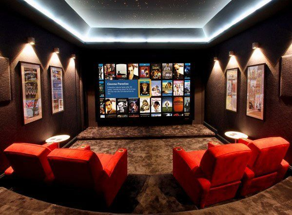 Top 70 Best Finished Basement Ideas Renovated Downstairs Designs Home Theater Lighting Home Cinema Room Home Theater Rooms
