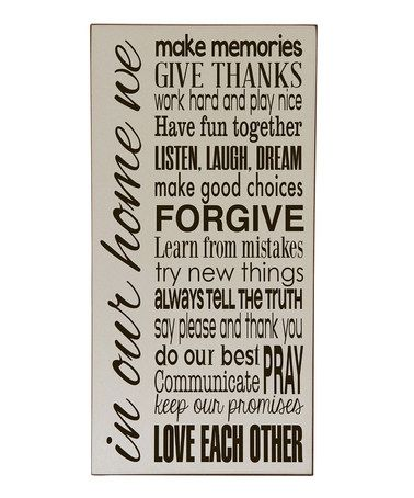 Another great find on #zulily! Cream & Brown 'In Our Home' Wall Art by Vinyl Crafts #zulilyfinds