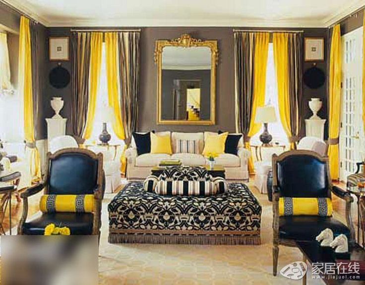 129 best Yellow living room images on Pinterest Yellow living - yellow living room walls