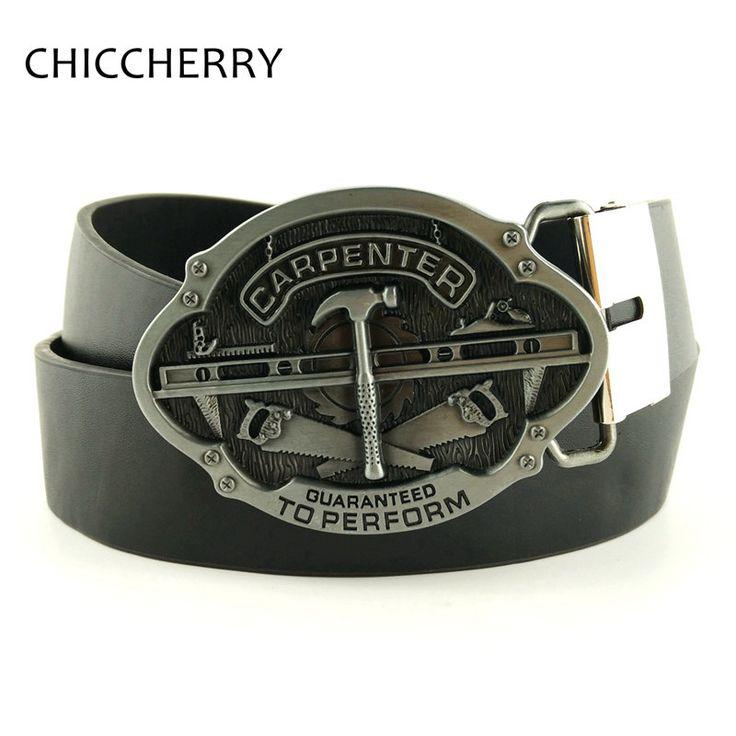 New Fashion Men's Belts Carpenter Metal Belt Buckle Replacement For Men Casual Jeans Cinto Country Cinturon Carpintero Hombre