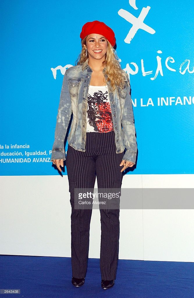 Singer Shakira poses at Hotel Palace on October 24, 2003 in Madrid, Spain. Shakira was named new ambassador of UNICEF (United Nations Comittee for Children).