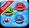 Se om dit barn kan fange fiskene i dette søde fiskespil, så lærer børnene samtidig tal, bogstaver og farver at kende.