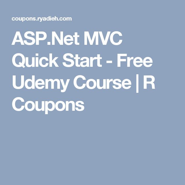 ASP.Net MVC Quick Start - Free Udemy Course | R Coupons