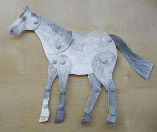Moving horse craft - Christmas gifts for students? Would also be good to illustrate the movement of the horse