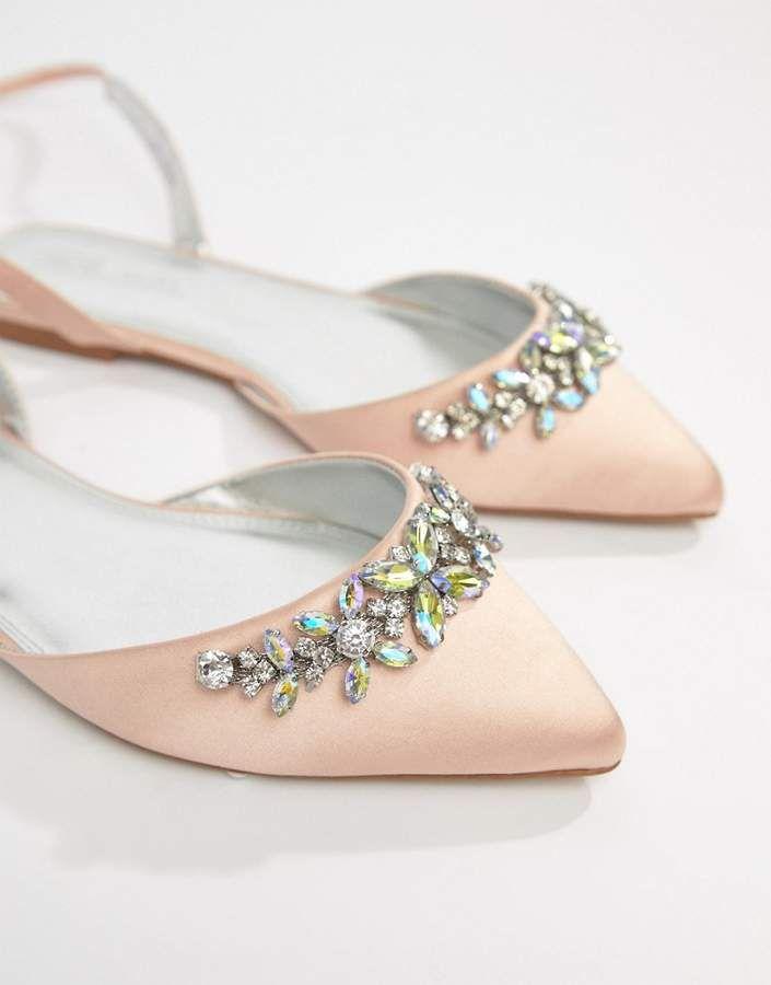 Asos DESIGN Veil Wide Fit Bridal Ballet