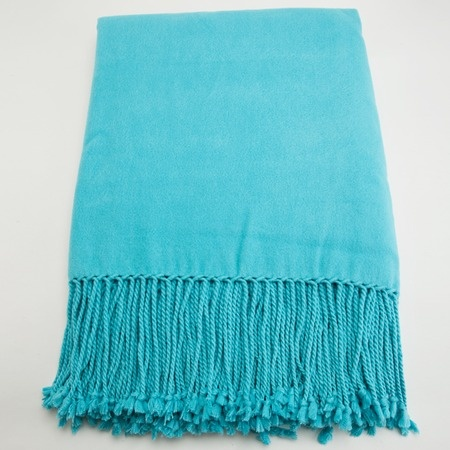 Bamboo Throw in Aqua from the pür cashmere event at Joss and Main