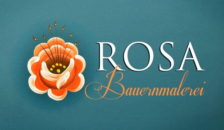 Bauernmalerei - Rosa 3