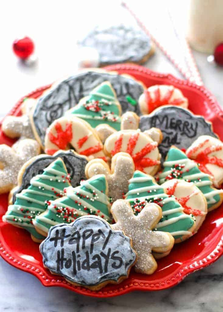 Chalkboard Christmas Cookies by The Seaside Baker The Best Ever